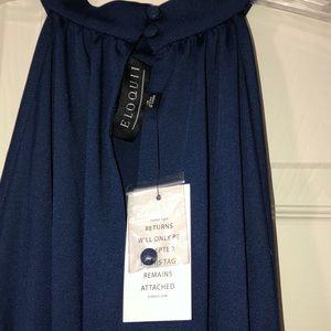 Eloquii Tops - Eloquii NWT 18 blue cold shoulder bell sleeve top